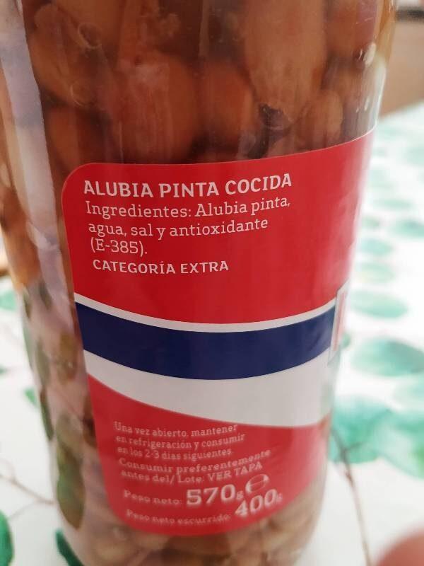 Alubia pinta - Ingredientes