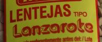 Lentejas tipo Lanzarote - Ingredientes