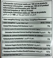 Caldo De Verduras Bio - Nutrition facts - fr