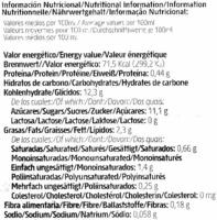 Horchata de chufa ecológica - Información nutricional