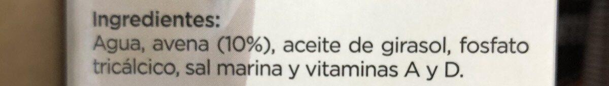 Bebida de Avena - Ingredients - fr