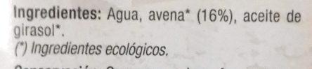 Costa Eco Bebida De Avena Ecológica - Ingredientes - es