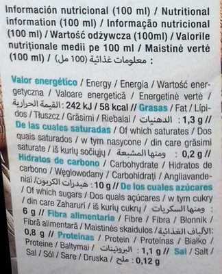 Costa Eco Bebida De Avena Ecológica - Información nutricional