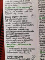 Bebida de chufa - Nutrition facts - es