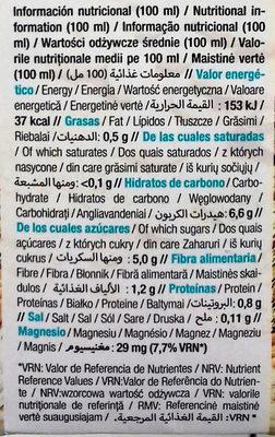 Bebida ecológica Kamut con cacao - Información nutricional - es