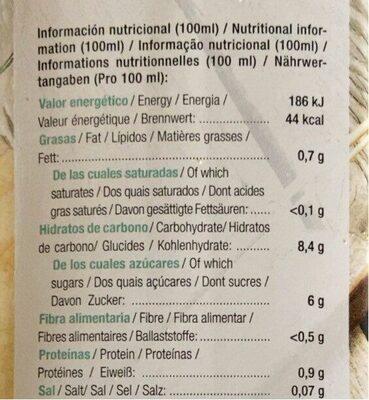 Bebida ecológica de espelta - Información nutricional - es