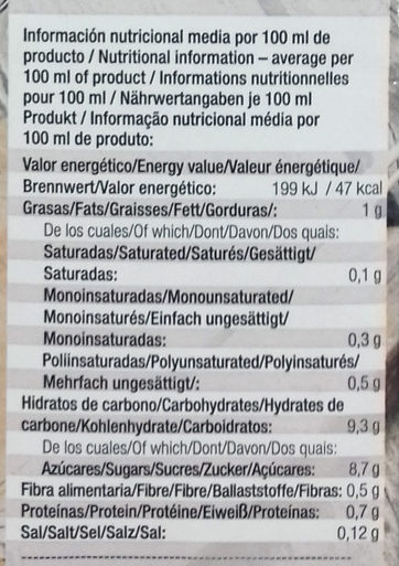 Bebida ecológica de espelta - Nutrition facts - es