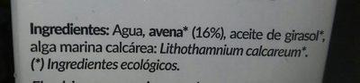 Lait d'avoine - Ingredients