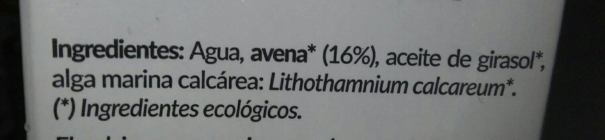 Avena con calcio - Ingredients - es
