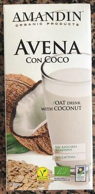 Leche De Avena Con Coco Eco Amandin - Producto