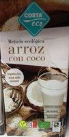 Bebida ecológica arroz con coco - Producto
