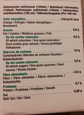 Amandin Avena Oat Nature - Nutrition facts - es