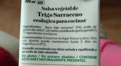 Cuisine trigo sarraceno - Nutrition facts - es