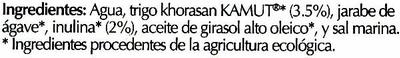 Bebida de Kamut - Ingredients - es