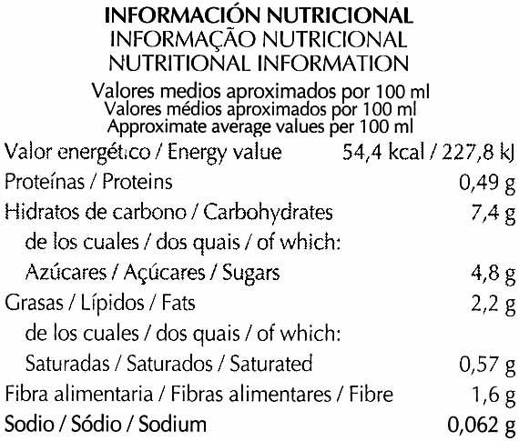 Bebida de Kamut - Nutrition facts - es