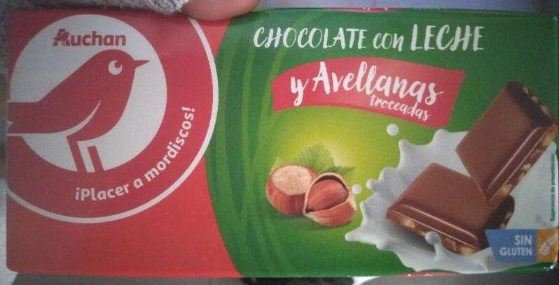Chocolate con leche y avellanas troceadas - Producte - es