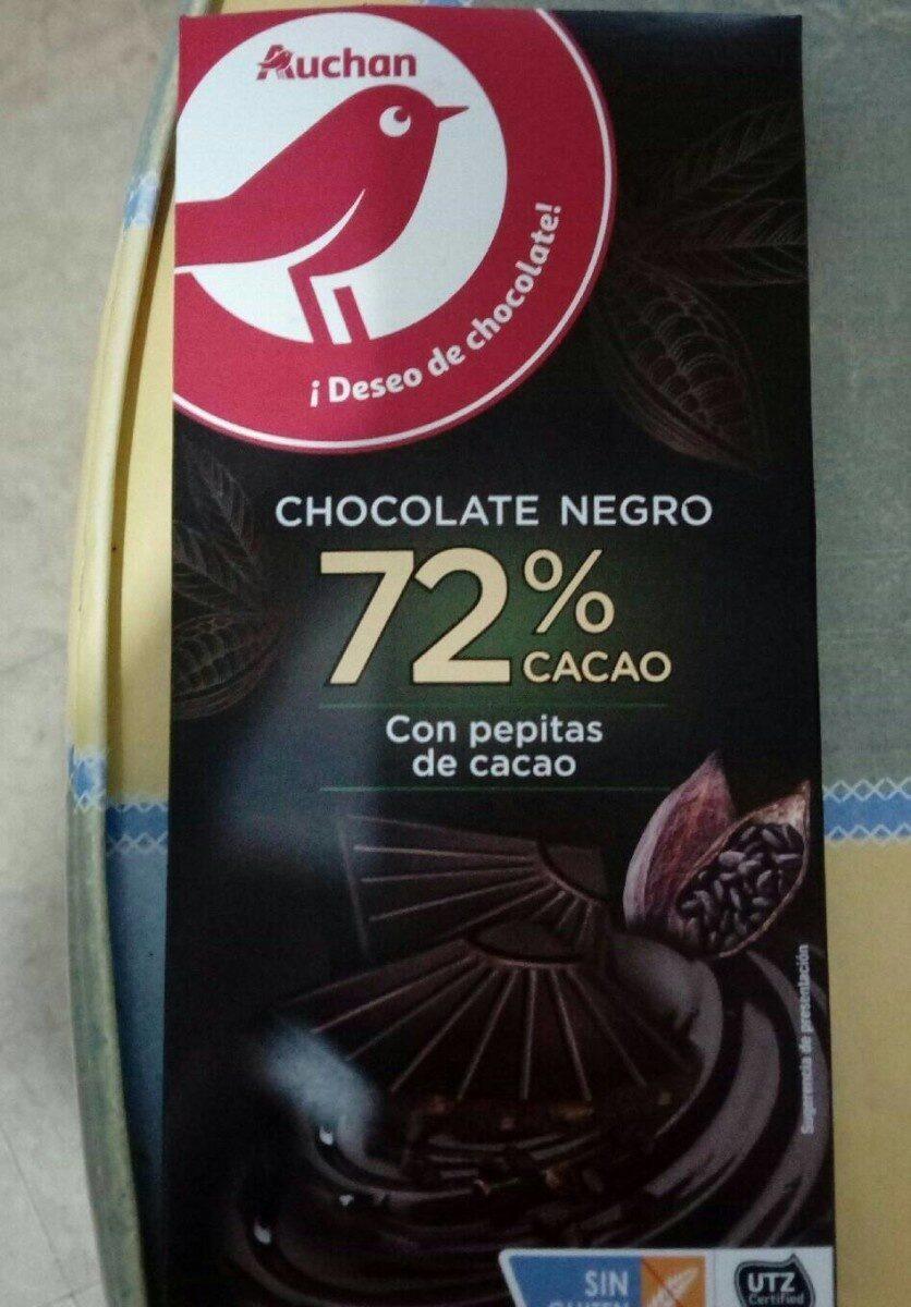 Chocolate negro 72% cacao con pepitas de cacao - Producte - es