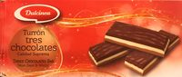 Turrón trois chocolats - Produit - fr