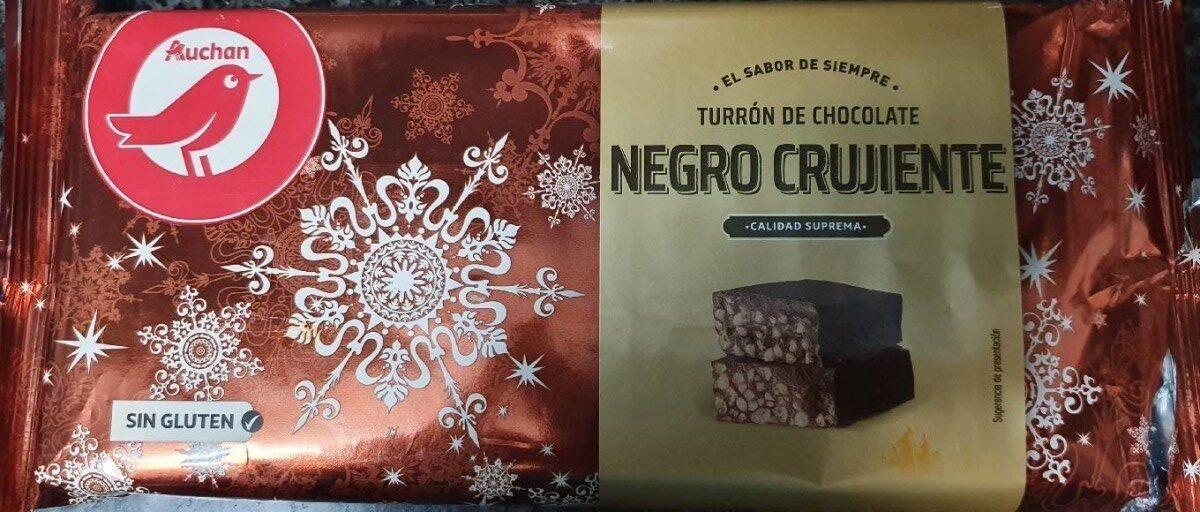 Turrón de chocolate negro crujiente - Producto - es