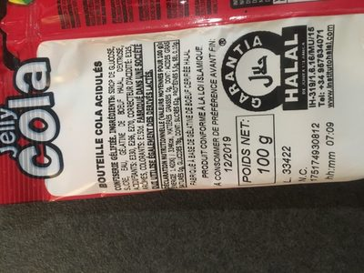 Bouteilles Cola - Ingredientes