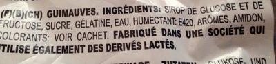 Dianas Nube - Ingrediënten - fr