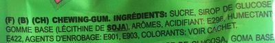 Melon Bubble Gum - Ingrediënten - fr
