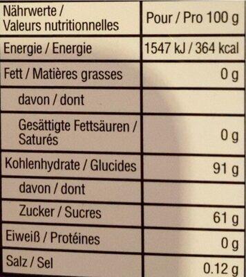 Fini roller bonbon - Informação nutricional - fr
