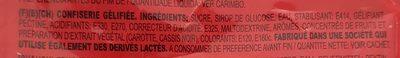 Bonbons cerise - Inhaltsstoffe - fr