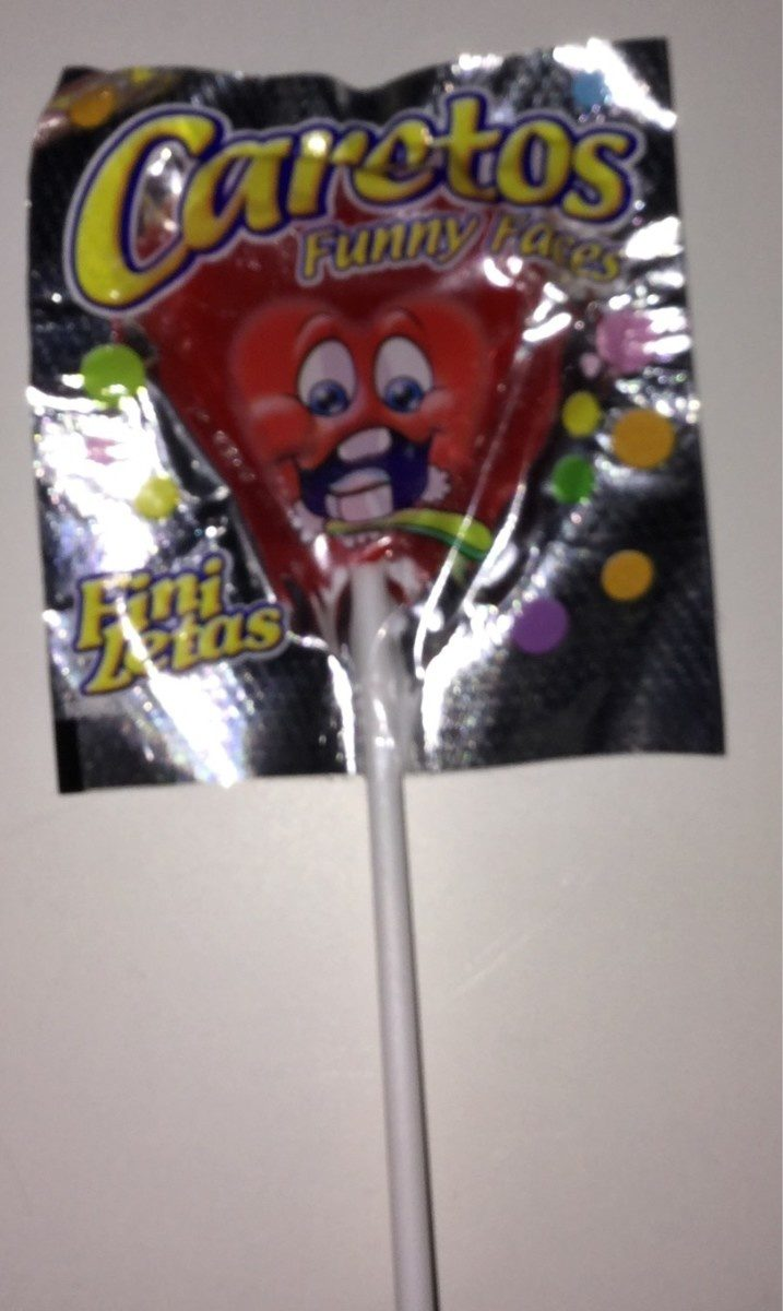Fini Funny Faces Lolly Strawberry - Producto