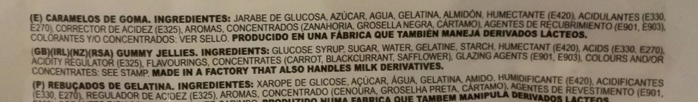Fini Sweets Jelly Mini Treats - Ingredientes - es