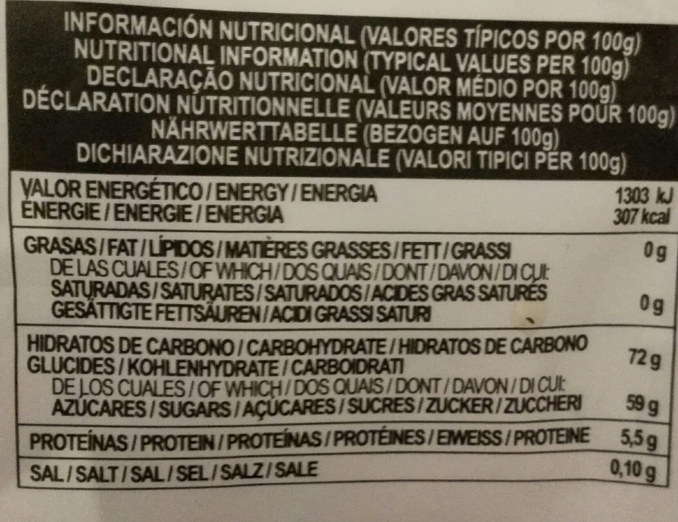 Fini Sweets Jelly Mini Treats - Informations nutritionnelles