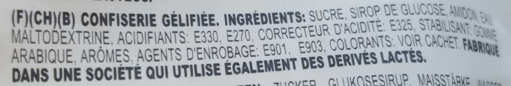 Colorés magiques - Ingrediënten
