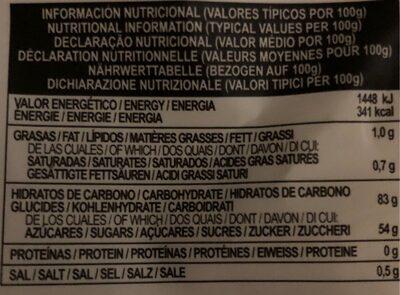 Liquorice blacks - Informations nutritionnelles - es