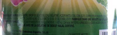 Bonbons crocodiles fizz - Ingrédients - fr