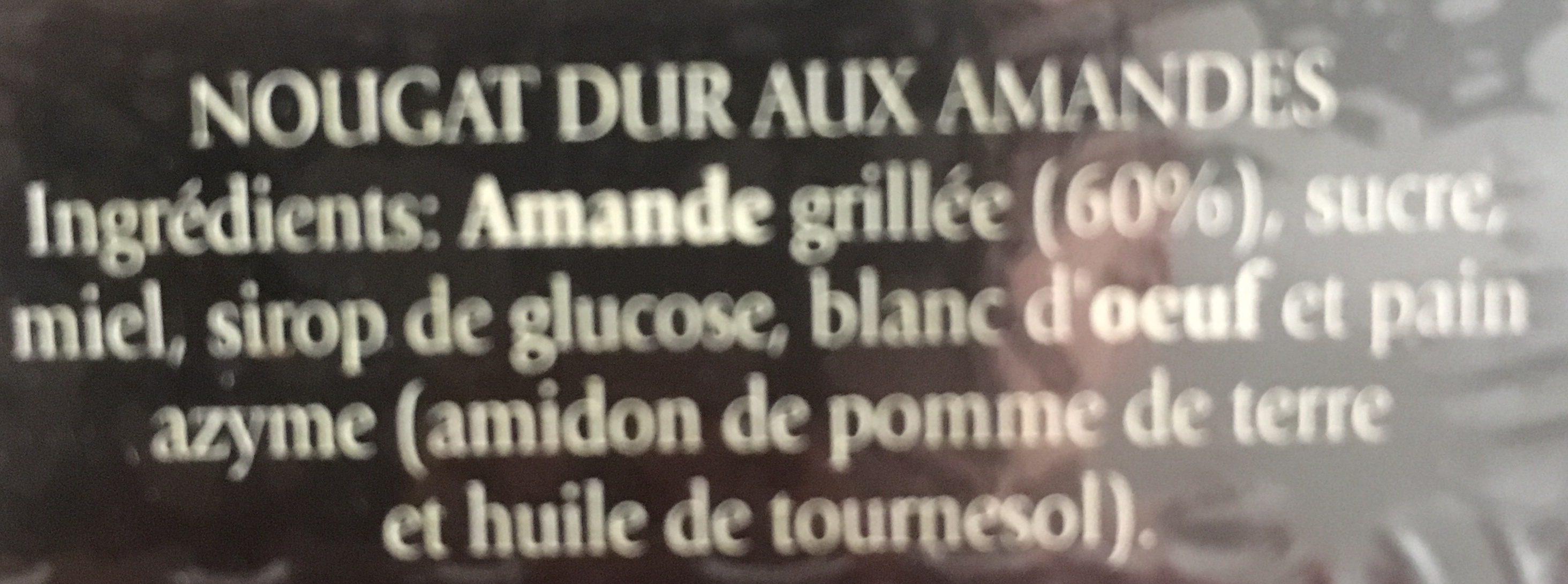 Turron Duro - Ingrédients - fr