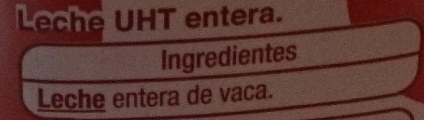 Leche entera - Ingrédients - es