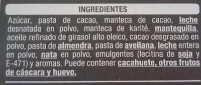 Turrón de trufa - Ingredients - es