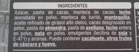 Turrón de trufa - Nutrition facts - es