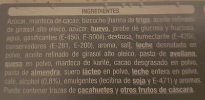 Turron de tiramisu - Ingredients - es