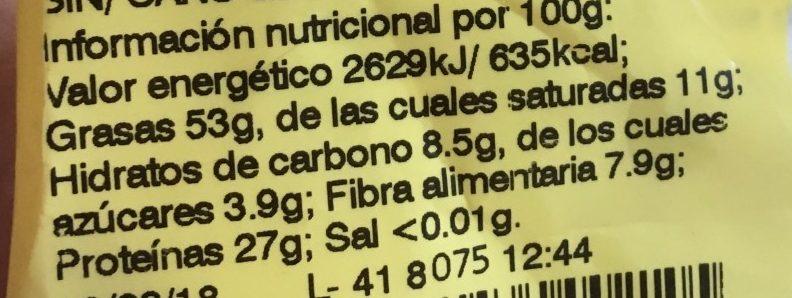 Cacahuete - Información nutricional - fr