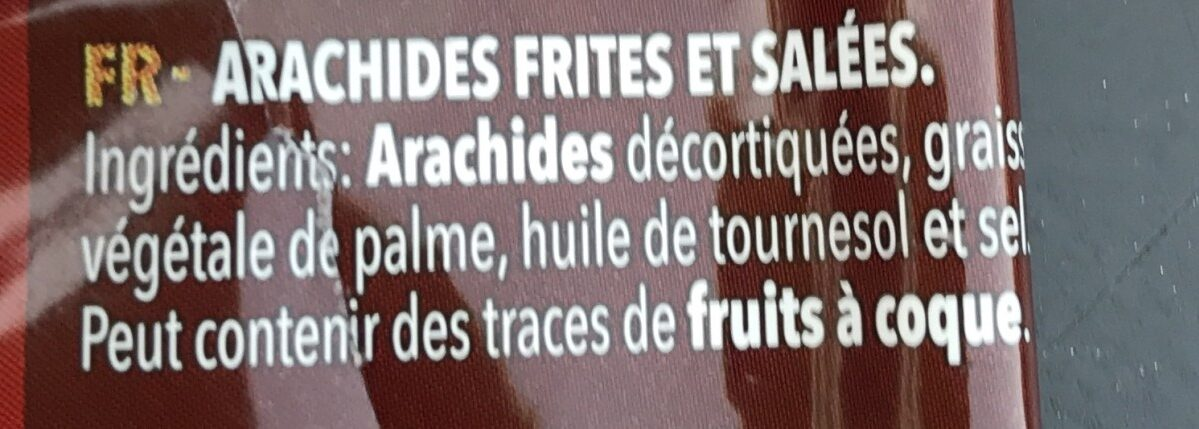 Cacahuetes salados - Ingredients - fr