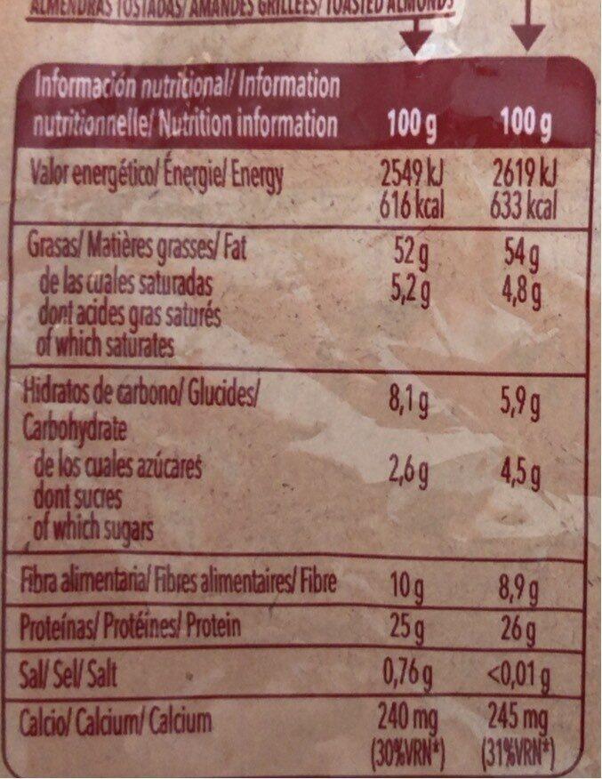 Amandes - Informació nutricional - fr
