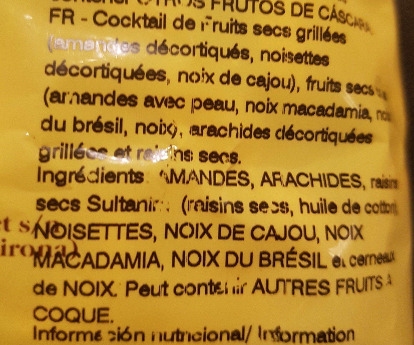 Cocktel Dietetico - Ingredients