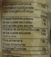 Faves Frit Ravich - Información nutricional - fr