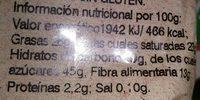 Noix de coco séchée - Voedingswaarden