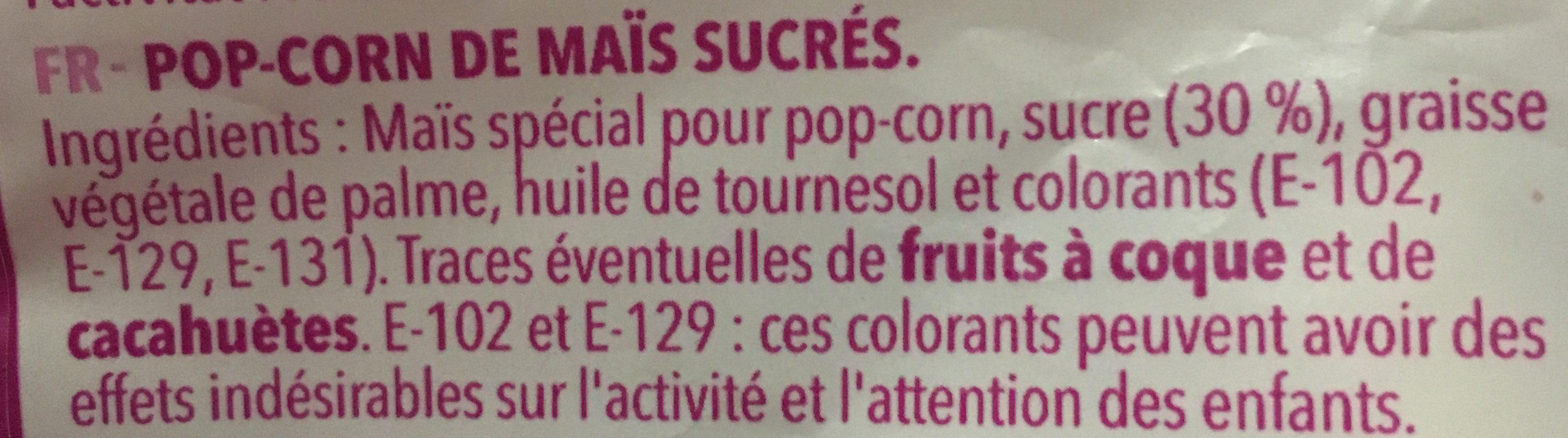 Top Corn Palomitas de Colores - Ingredientes
