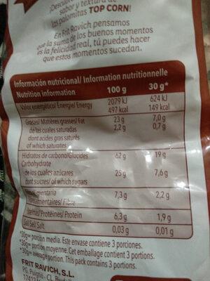 Top corn - Nutrition facts - es
