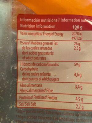 Chips Espagne En Boule - Nutrition facts - fr