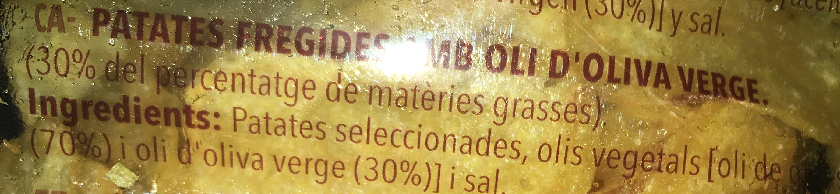 Patatas Fritas Caseras Frit Ravich 270G - Ingrédients - fr
