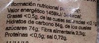 Ananas séché - Voedingswaarden